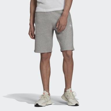 Men's Originals Grey Adicolor Essentials Trefoil Shorts
