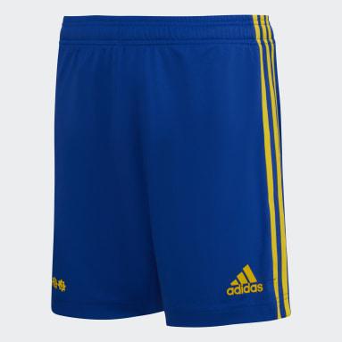 Shorts Local Boca Juniors 21/22 Azul Niño Fútbol