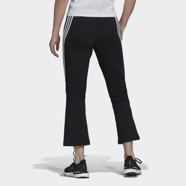Dames Sportswear Zwart adidas Sportswear Future Icons 3-Stripes Flare Broek