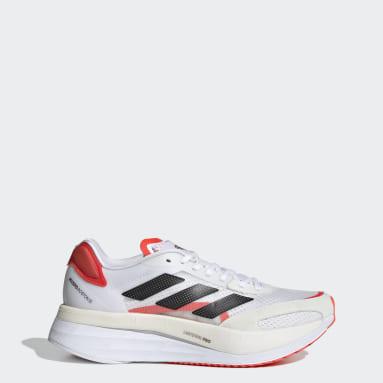 Women Running White Adizero Boston 10 Shoes