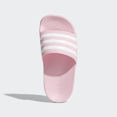Children Essentials Pink Adilette Shower Slides