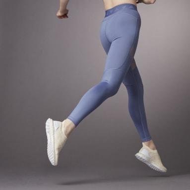 Mallas Largas Hyperglam Corte Alto Violeta Mujer Training