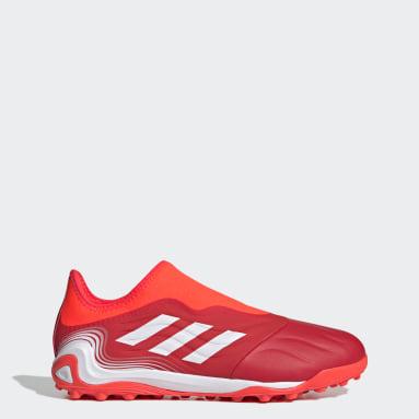 Fotboll Röd Copa Sense.3 Laceless Turf Boots