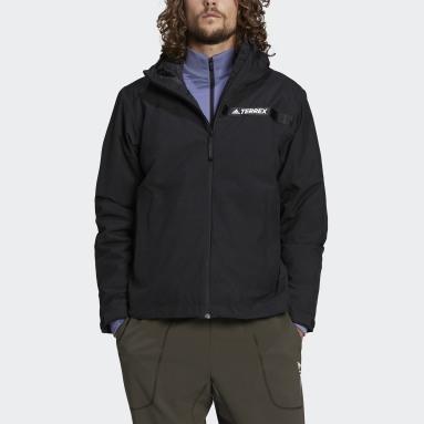 Men TERREX Black Terrex Multi RAIN.RDY Primegreen Insulated 2L Rain Jacket