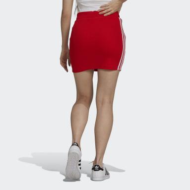Falda Adicolor Classics Rojo Mujer Originals