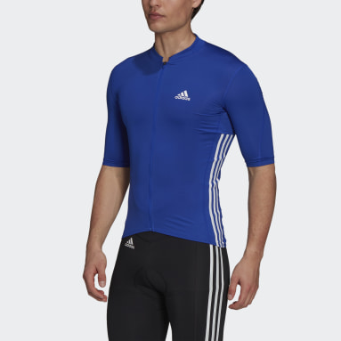 Men Cycling Blue The Short Sleeve Cycling Jersey