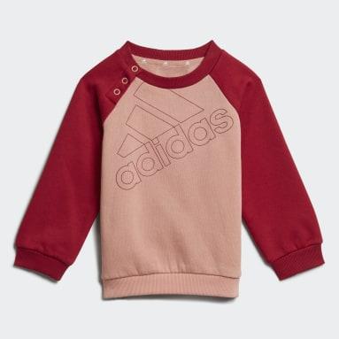 Kinder Sportswear adidas Essentials Logo Trainingsanzug – Genderneutral Rosa