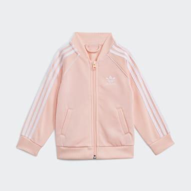 Kinder Originals Adicolor SST Trainingsanzug Rosa