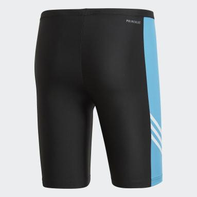 Shorts de Natación largos Fitness Three-Second Negro Hombre Natación