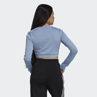 Women's Originals Blue Adicolor Classics Long Sleeve Tee