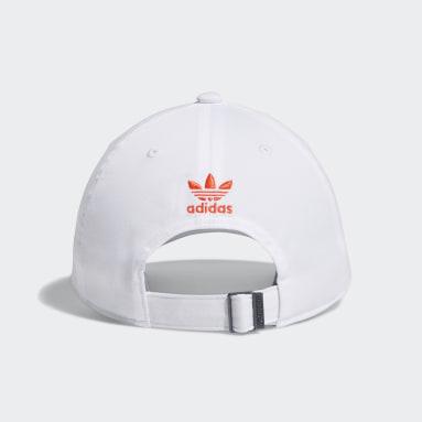 Men's Originals White Relaxed Split Trefoil Strap-Back Hat