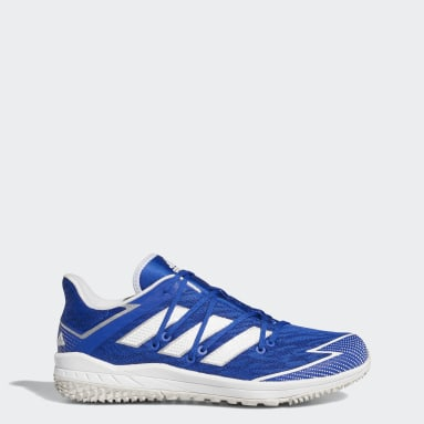 Men's Baseball Blue Adizero Afterburner Turf Shoes