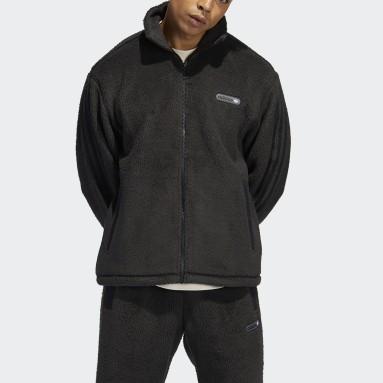 Men Originals Black adidas SPRT Firebird Sherpa Track Jacket