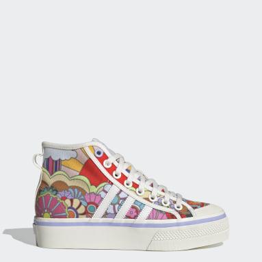 Frauen Originals Nizza Platform Mid Schuh Weiß