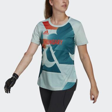 Camiseta Team Hungary HEAT.RDY Verde Mujer Gimnasio Y Entrenamiento
