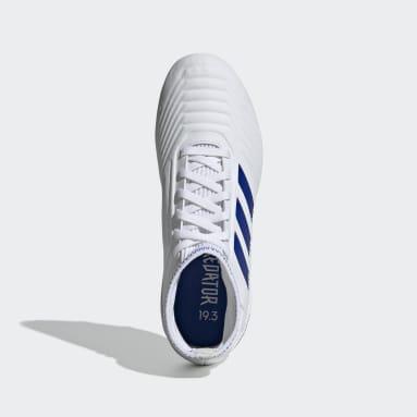 Calzado de Fútbol Predator 19.3 Terreno Firme (UNISEX) Blanco Niño Fútbol