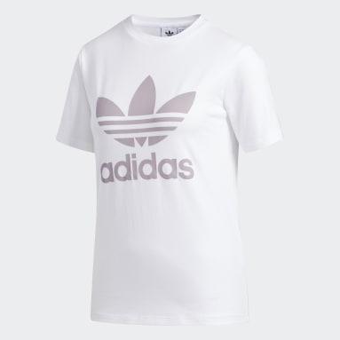 T-shirt Trefoil Blanc Femmes Originals