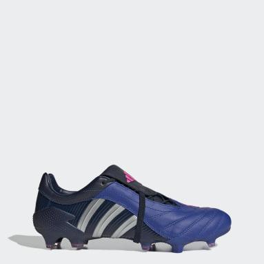 Men's Soccer Blue Predator Pulse UCL Firm Ground Cleats