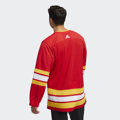 Men's Hockey Red Flames Home Authentic Jersey