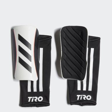 Kids Football White Tiro League Shin Guards