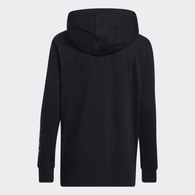 Youth Training Black Graphic Fade Hooded Tee