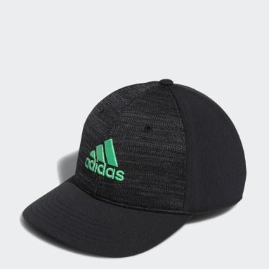 Men Golf Black Golf Performance Knit Cap