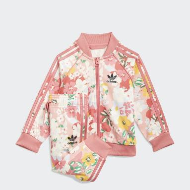 Girls Originals Pink HER Studio London Floral SST Set