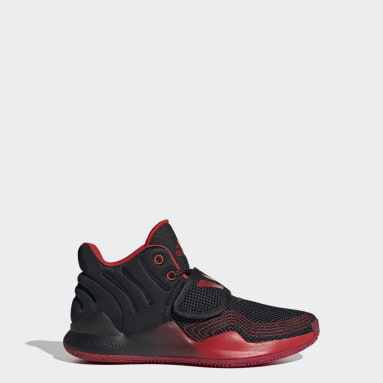 Youth Basketball Black Deep Threat Primeblue Shoes