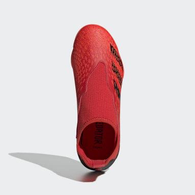 Kids Football Red Predator Freak.3 Laceless Indoor Boots