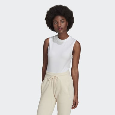 Body Adicolor Single Jersey blanc Femmes Originals