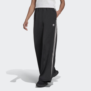ผู้หญิง Originals สีดำ กางเกงผ้าซาตินขายาว Adicolor Classics