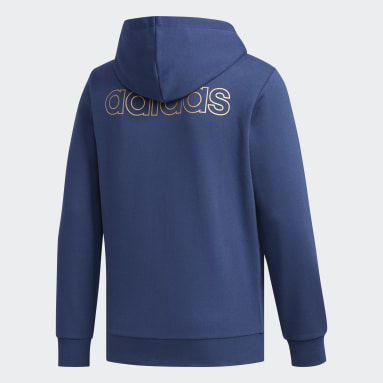 Veste à capuche Essentials Bleu Hommes Fitness Et Training