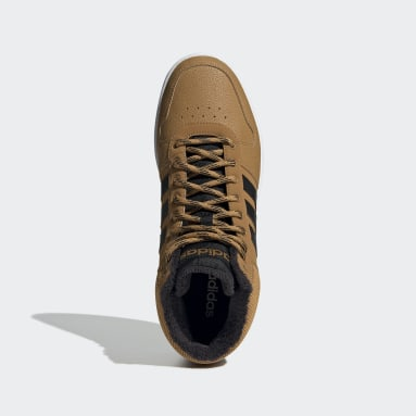 Basketball Brown Hoops 2.0 Mid Shoes