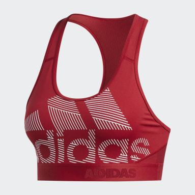 Brassière Don't Rest Alphaskin Badge of Sport Bordeaux Femmes Yoga