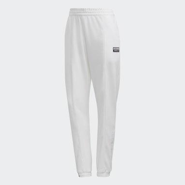 Pants Cuffed - Corte Medio Blanco Mujer Originals