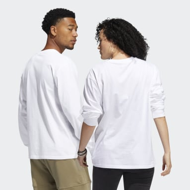 Speed Graphic Long Sleeve Tee (uniseks) Bialy