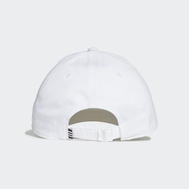 Lightweight Metal Badge Baseball Caps Hvit