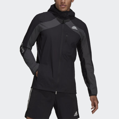 Men's Running Black Adizero Marathon Jacket