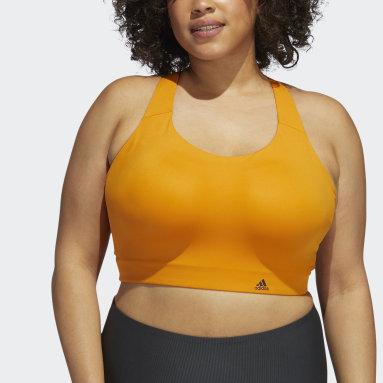 Women Trail Running Orange Ultimate Bra (Plus Size)