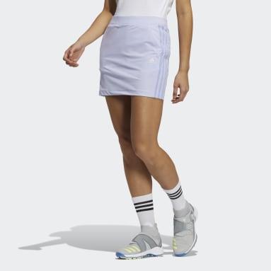 Women Golf Purple Primeblue 3-Stripes Skort