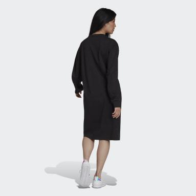 Robe Long Sleeve Noir Femmes Originals