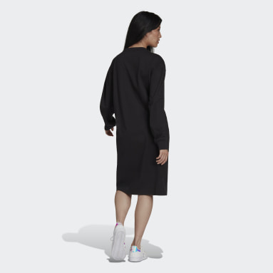 Ženy Originals čierna Šaty Long Sleeve
