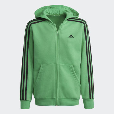 Youth Training Green Essentials 3-Stripes Hoodie