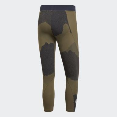 Mallas Alphaskin Tech Camouflage Graphic 3/4 - Corte Bajo Verde Hombre Training
