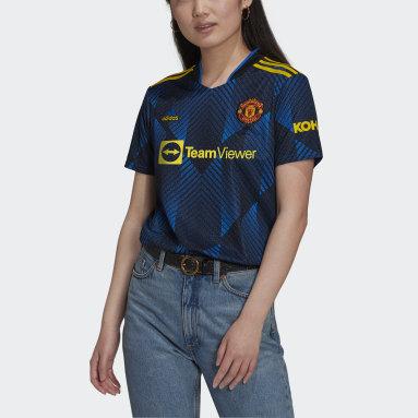 Frauen Fußball Manchester United 21/22 Ausweichtrikot Blau