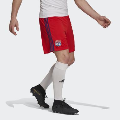 Pantalón corto segunda equipación Olympique de Lyon 21/22 Rojo Fútbol
