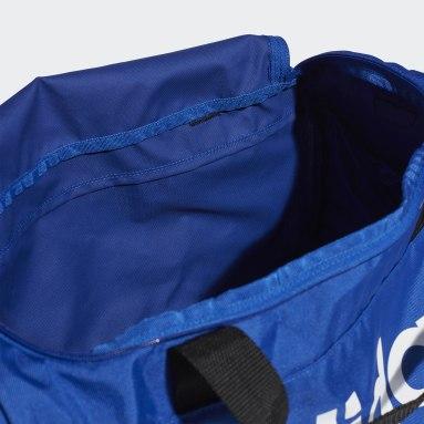 Fitness Og Træning Blå Linear Logo sportstaske