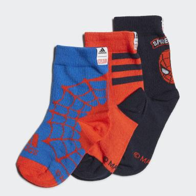 Boys Sports Blue Marvel Spider-Man Primegreen Socks 3 Pairs