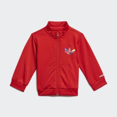 Kids Originals Red Adicolor Tracksuit