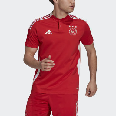 Men Football Red Ajax Amsterdam Tiro Polo Shirt